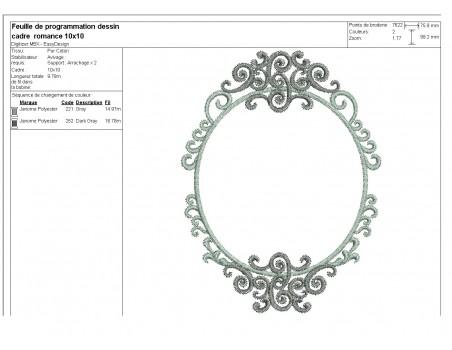 Embroidery design wedding frame