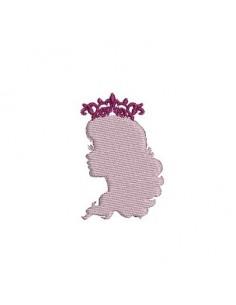 motif de broderie camée princesse
