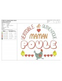 Instant download machine embroidery doting mother