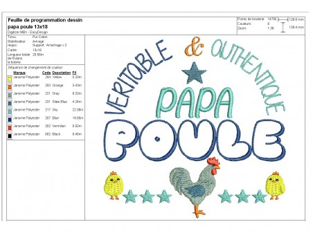 Instant download machine embroidery mother hen
