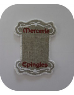 Motif de broderie cartonnette mercerie epingle