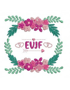 Embroidery design weeding frame evjf customizable