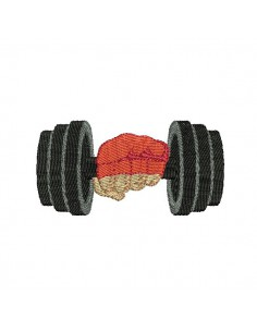 embroidery design dumbbell