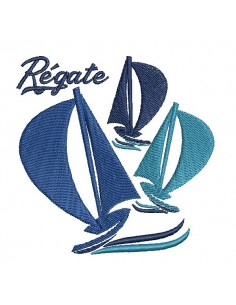 Instant download machine embroidery boat