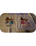 Instant download machine embroidery design clothesline boy