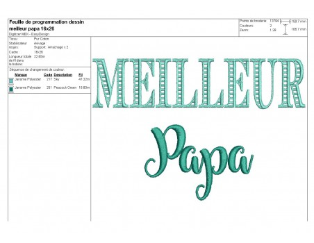 Embroidery design super dad