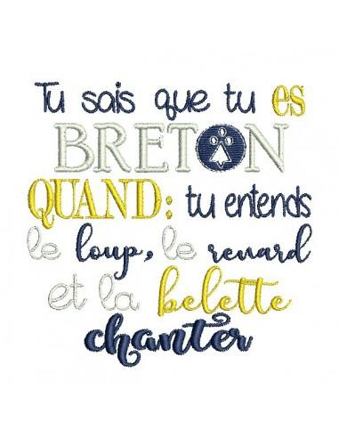 Motif de broderie  Breton quand