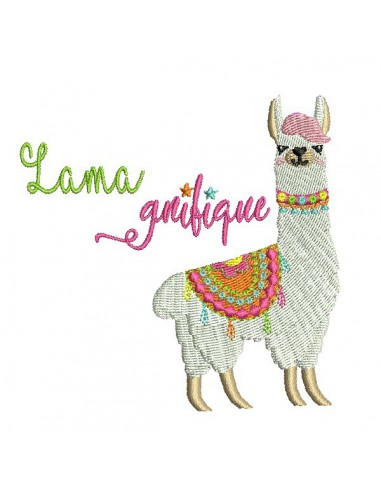 Instant download machine embroidery  applique lama