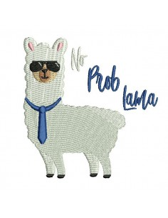 Instant download machine embroidery  lama no problama