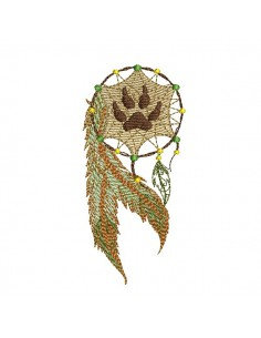 Embroidery design bear paw catches dreams
