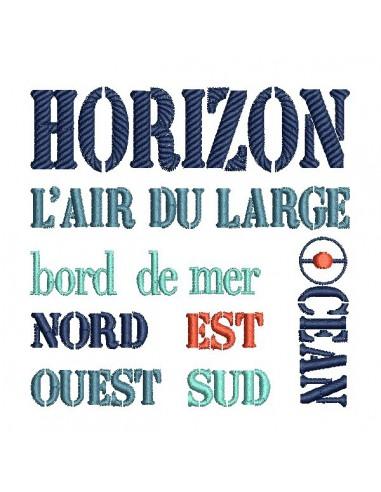Motif de broderie  machine Horizon