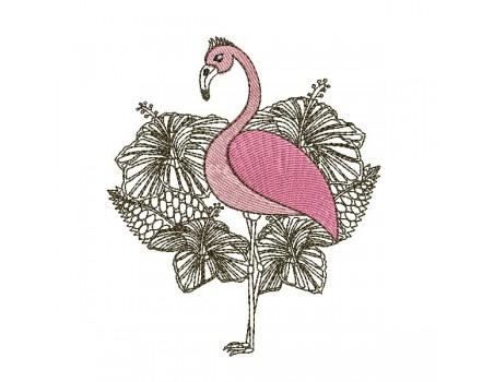Instant download machine embroidery design flamingo buoy