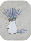 Instant download machine embroidery lavender