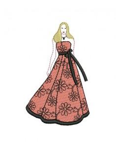 Motif de broderie silhouette femme n°6