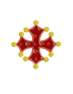 Motif de broderie machine Croix  occitane