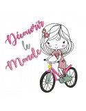Instant download machine embroidery design girl book