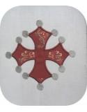 Motif de broderie Croix  occitane