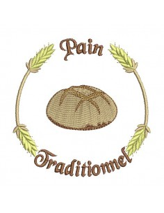 Motif de broderie machine  boule de pain traditionnel