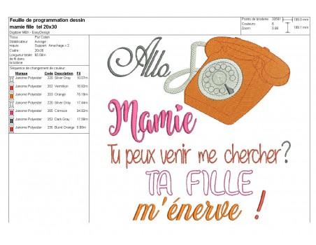 Embroidery design  allo granny