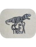 Embroidery design Tyrannosaurus