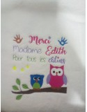 Embroidery design text early childhood