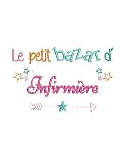 Embroidery design text Mistress Bazaar