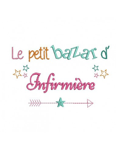 Embroidery design text Mistress Bazaar