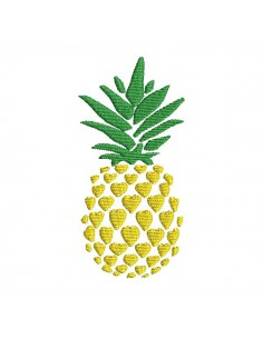 Instant download machine embroidery design pineapple flowers