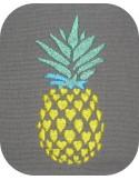 Motif de broderie machine ananas coeur