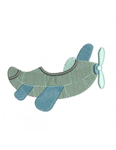 Instant download machine embroidery Mouse in a plane