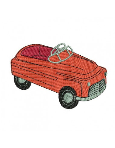 Motif de broderie machine  voiture
