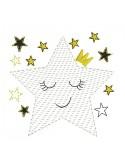 Motif de broderie machine étoile couronne en mylar