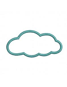 motif de broderie machine appliqué  nuage