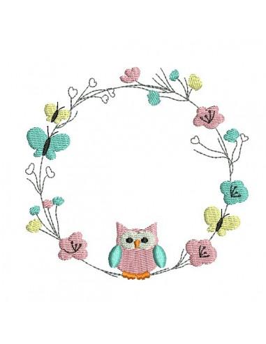 Embroidery design  spring frame