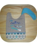 machine embroidery design  Bib ITH hero cape