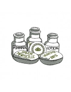 embroidery design bottles parfum