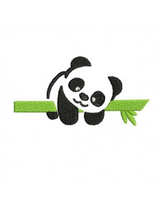 embroidery design  panda on a branch