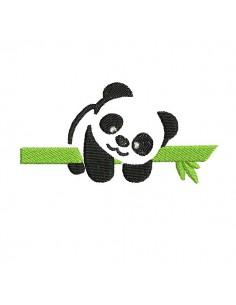 Motif de broderie machine panda de face