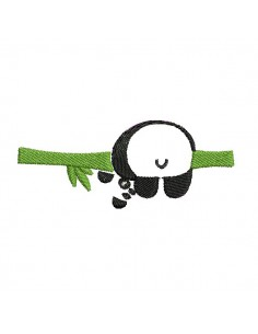 embroidery design front panda