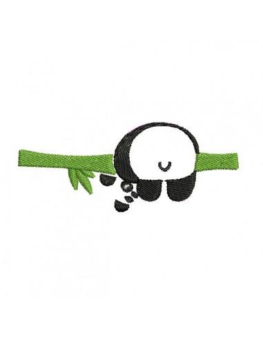 Motif de broderie machine panda de dos