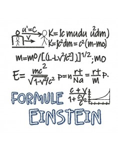 Embroidery design  formula einstein