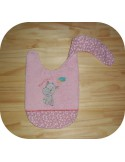 machine embroidery design  Bib ITH a spoon for mom
