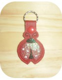 machine embroidery design seahorse keychain ith