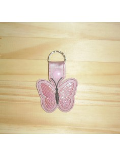 machine embroidery design butterfly mylar keychains ith