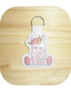 machine embroidery design unicorn mylar keychains ith