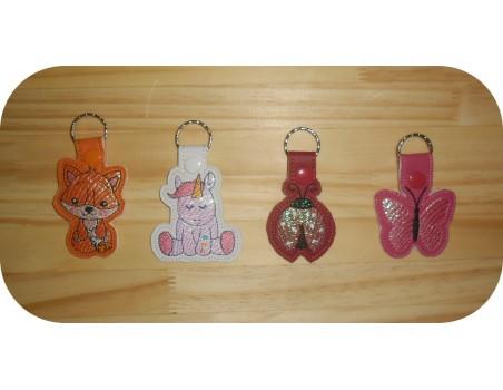 machine embroidery design ladybug mylar keychains ith