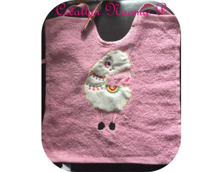 Instant download machine embroidery lama
