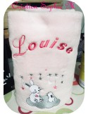 Instant download machine embroidery white rabbit