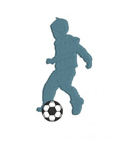 Motif de broderie silhouette footballeur