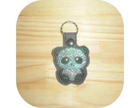 machine embroidery design fox mylar keychains ith